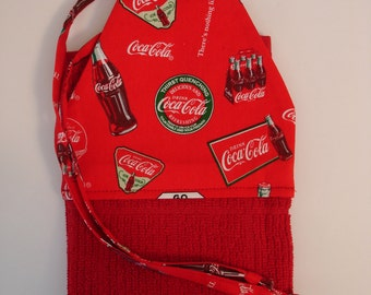 Coca Cola Kitchen Towel   Red Hanging Tie Towel   Coca Cola Home Decor    Red Kitchen Towel   Fun Kitchen Decor   Red Home Decor