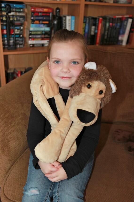 Lion Neck Pillow, Brown Body Pillow, Car Seat Pillow, Seat Bely Pillow, Seatbelt Pillow, Zoo Animal Gift, Safari Pillow, Reading Pillow by Etsy