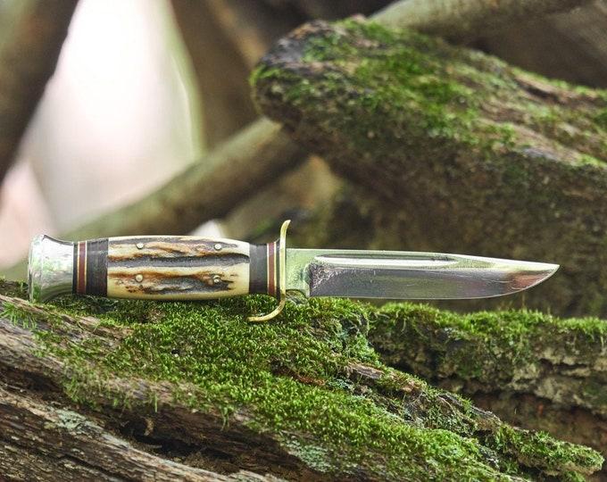 Vintage JA Hellberg Fixed Blade Knife Eskilstuna Sweden