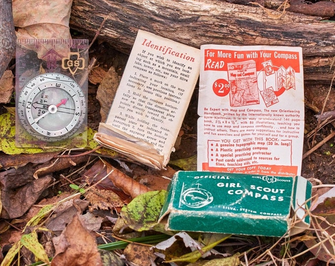 Vintage Compass By Silva Girl Scouts of America Compass