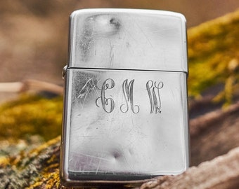 Vintage Zippo with the intials CMW