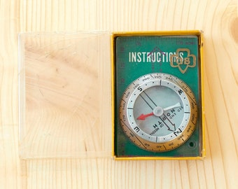 Vintage Girl Scout Compass Made By Silva