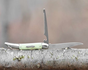Vintage Colonial Fish knife with glow in the dark handle