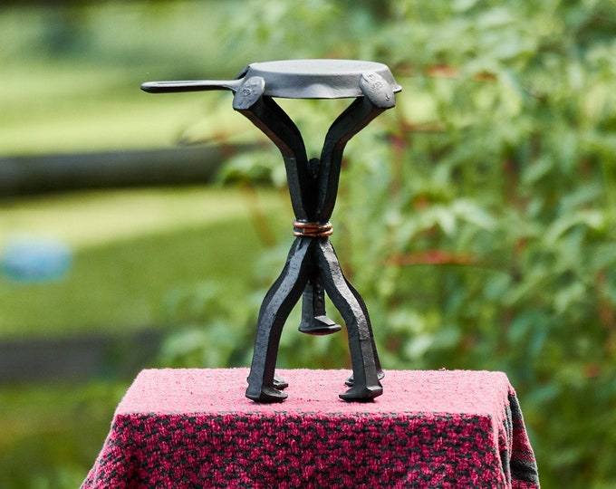 Railroad Spike table stand or stool