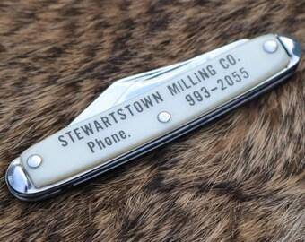 Vintage 2 blade pocket knife from Stewartstown Milling Co