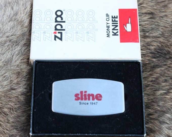 Vintage Zippo pocket knife money clip from Sline never used