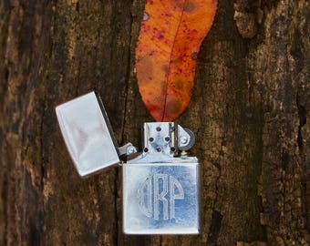 Zippo sterling silver vintage new wick and flint lighter