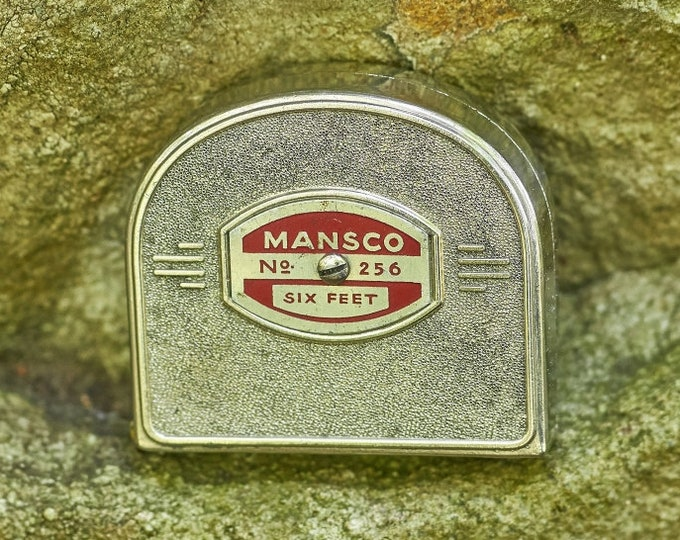 Vintage Mansco No 256 6 foot push pool tape measure