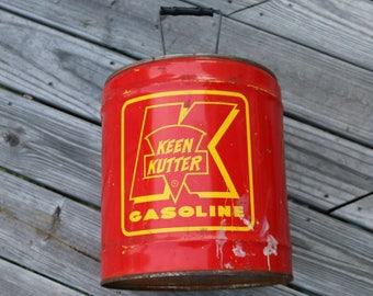 Keen Kutter Gas Can 5 gallon Vintage gas and oil