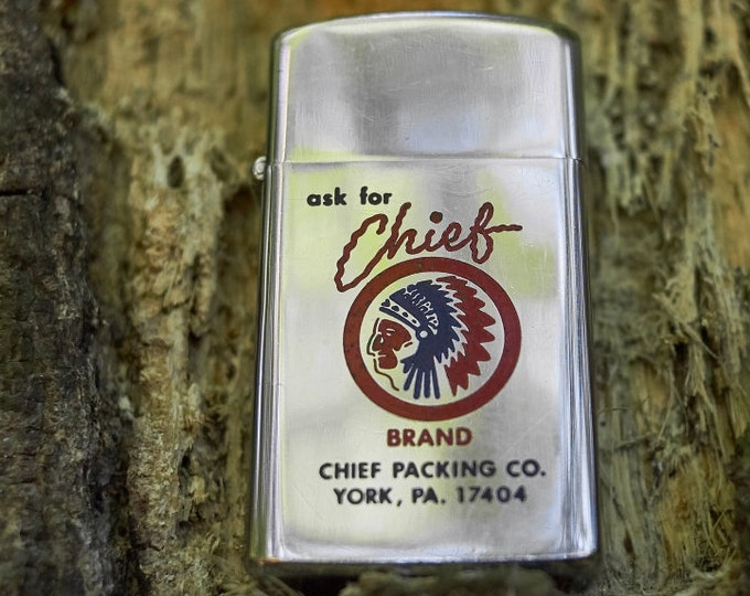 Zippo Vintage Zippo Chief Brand Packing Co lighter