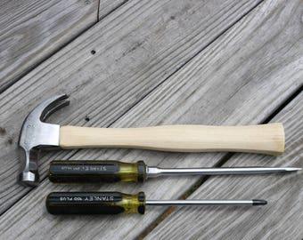 hammer vintage Stanley 100 Plus hammer and screwdrriver set