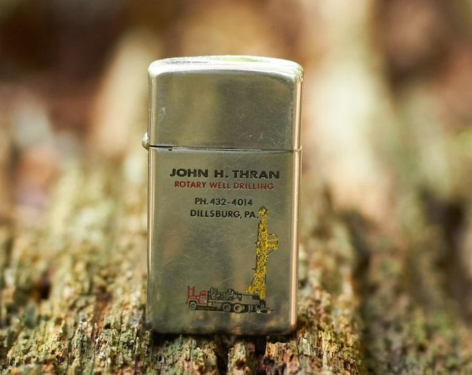 Zippo Vintage Zippo from John H Thran Rotary Well Drilling Dillsburg Pennsylvania lighter