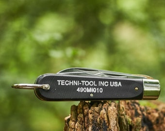 Vintage Pocket Knife  Colonial Electricians knife from Techni Tool Inc USA NOS new old stock