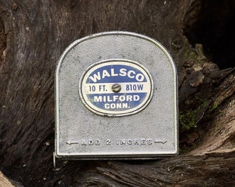 Vintage Tape Measure Walsco 10 foot 810W