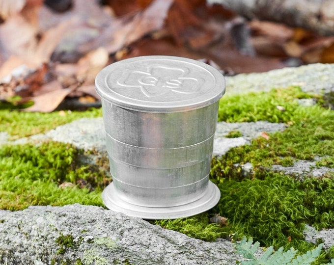Vintage collapsible cup Girl Scout Collapsible camp cup