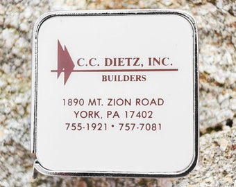 Vintage Tape Measure NOS advertising CC Dietz Inc Builders York Pa