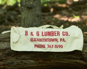 Nail apron from B and G Lumber Company Elizabethtown Pa