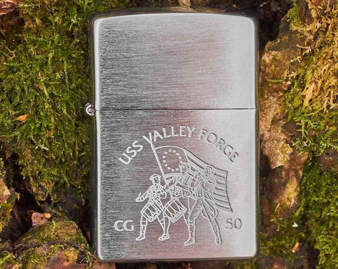 Zippo Lighter USS Valley Forge unfired