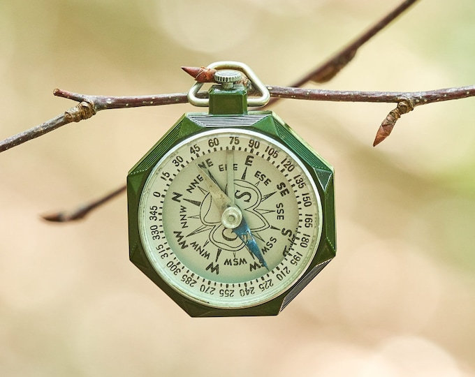Vintage Girl Scout Compass Made by Taylor USA