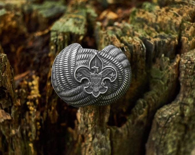 Vintage Boy Scouts of America neckerchief slide
