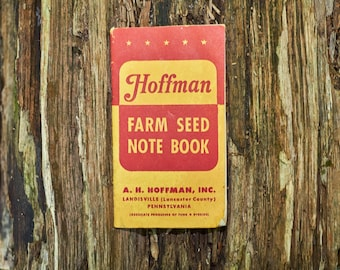 Hoffmans Seeds Farm Seed note book