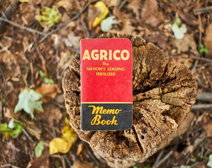 Vintage AGRICO fertilizer memo book