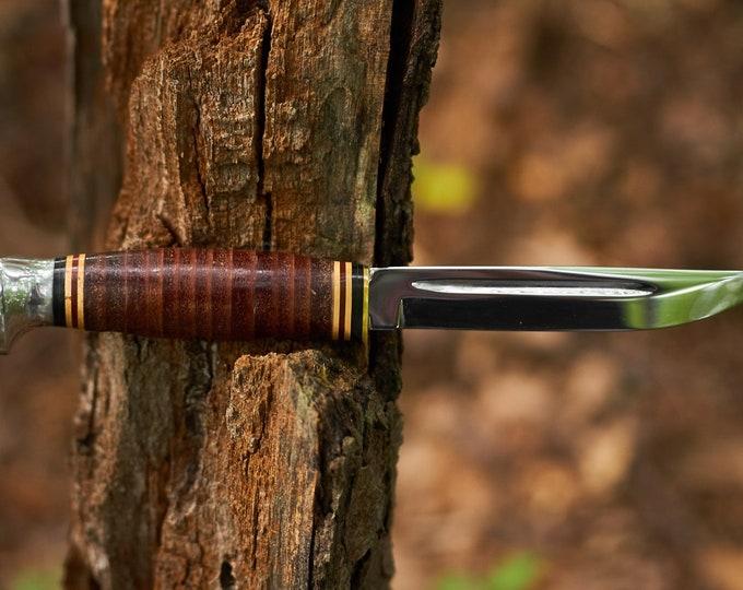 Vintage Kabar fixed blade knife 1232 USA