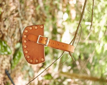 handmade leather hatchet sheath