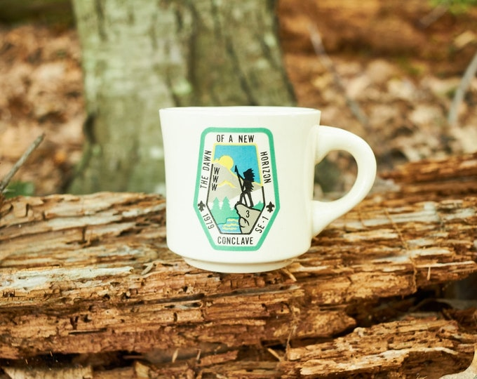 Vintage Boy Scouts of America coffee cup The Dawn of a New Horizon 1979 Conclave SE 1