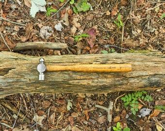 Vintage Maydole ball peen hammer on its original handle
