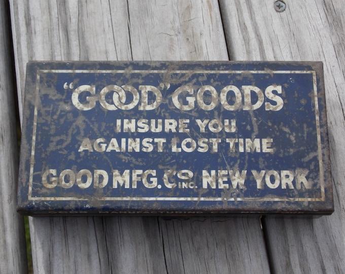 Good Goods metal parts box Vintage advertising