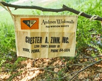 Vintage nail apron Chester A Zinn Inc York Pennsylvania