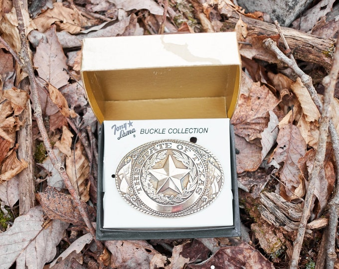Tony Lama Texas belt buckle from the State series collection