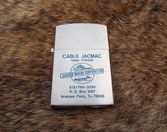 Vintage Barlow lighter Aransas Pass Texas Jackson Marine Corporation never fired