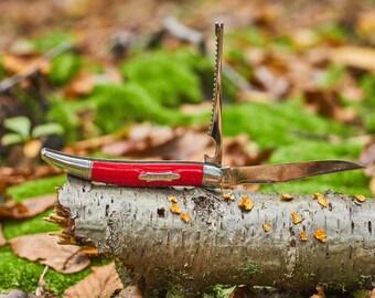 Vintage Imperial Pocket Knife - Vintage Imperial Fish Knife red