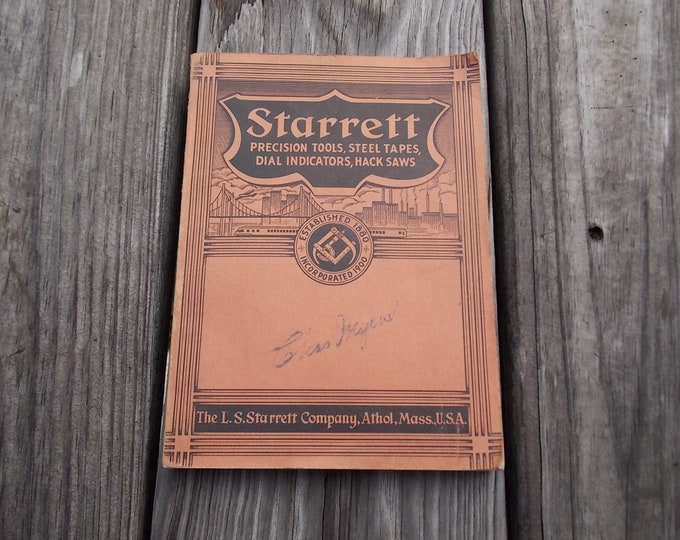 Starrett Tools catalog 1946