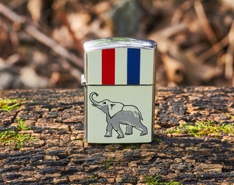 Vintage Amico lighter unfired with Elephant 1964 with original box