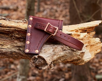 Leather Axe/hatchet sheath handmade