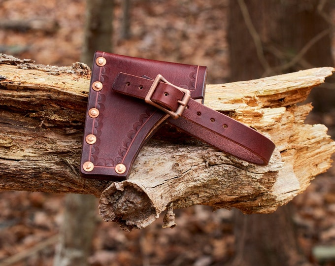 Leather Axe/hatchet sheath handmade