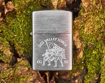 Zippo Lighter USS Valley Forge CG 50 unfired