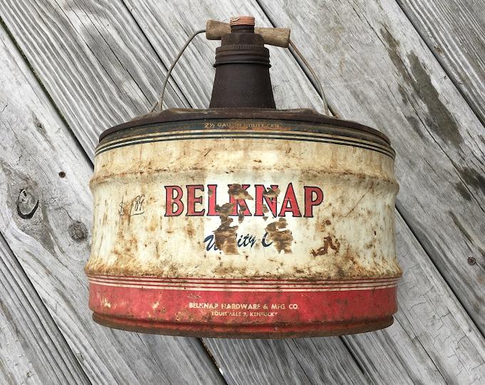 Belknap gas/utility can Belknap Hardware Louisville Kentucky Vintage Gas and Oil