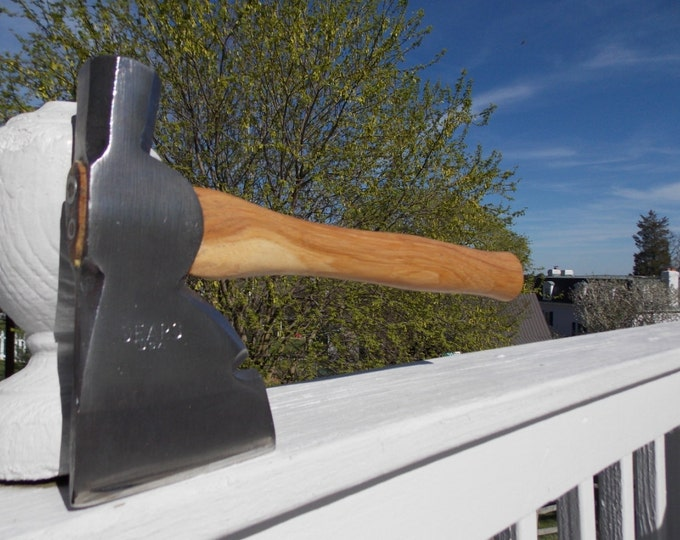 vintage Sears hatchet with new 13 inch handle of American Hickory weighs 1lb 14 oz axe