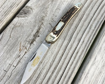 Vintage Pocket knife AG Russell Puma 75th Anniversary Luger