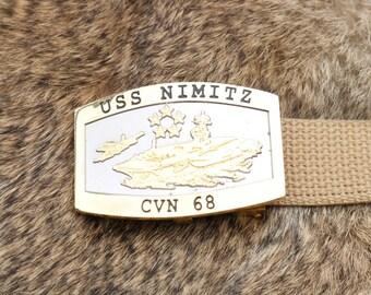 USS NIMITZ CVN-68  belt buckle
