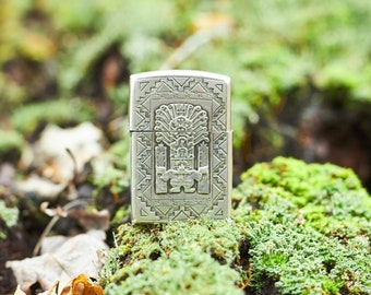 Vintage Sterling Silver Lighter from Peru Inca