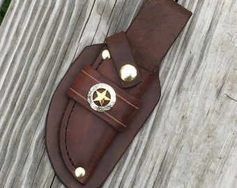 Handmade Leather fixed blade knife sheath