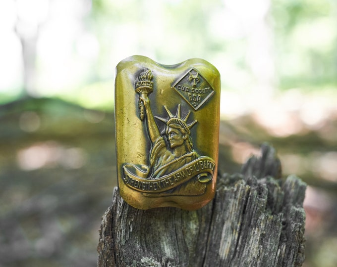 Statue of Liberty Cub Scout neckerchief slide