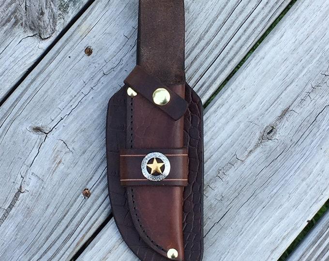 Leather Knife Sheath handmade hand stitched