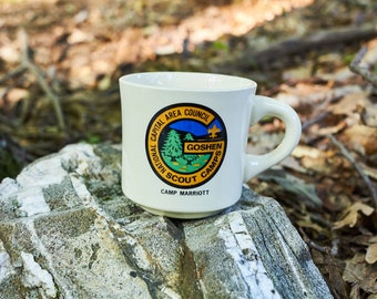 Vintage Boy Scouts of America coffee cup National Capital Area Council Goshen Scout Camps Camp Marriott