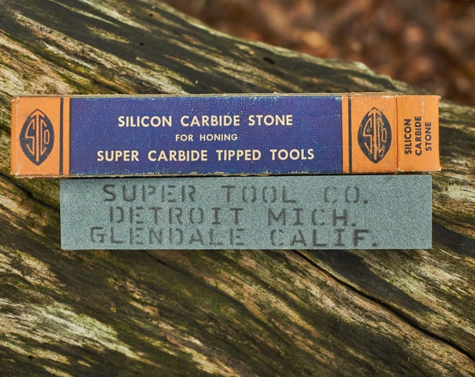 Vintage sharpening stone from Super Tool Co
